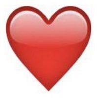 1) Corazón rojo, el símbolo más representativo del amor. Foto:emojipedia.org