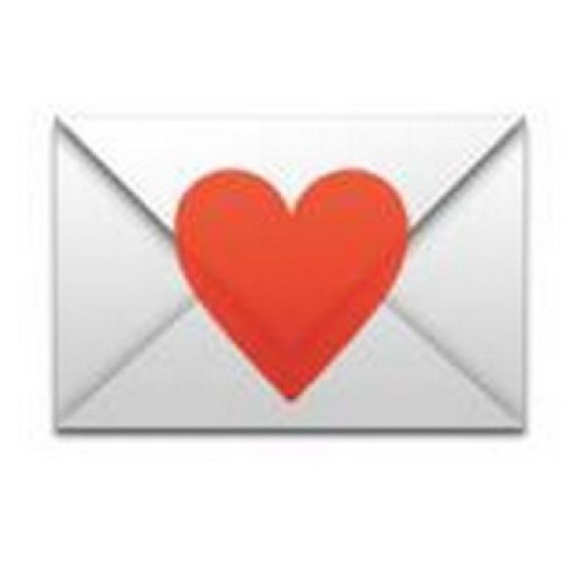 2) Carta con corazón, representado una carta escrita para el ser amado. Foto:emojipedia.org
