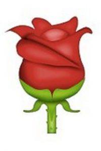 4) Rosa roja, utilizada para el romance y la conquista por su agradable color y olor. Foto:emojipedia.org