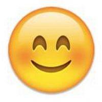 5) Cara sonriente con las mejillas sonrojadas demostrando felicidad interior. Foto:emojipedia.org