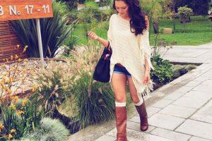 #FAIL: Flecos, botas, medias por fuera, y shorts. ¡Así no Lina! Foto:Instagram
