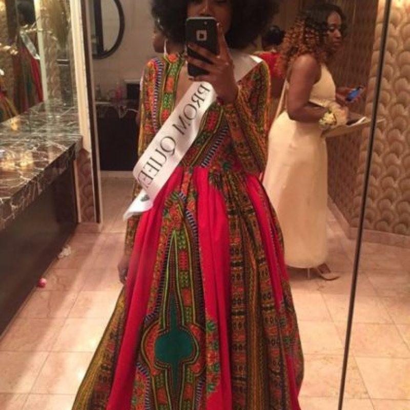 Con el vestido se ganó el premio de la reina del baile. Foto:vía Instagram/mindofkye