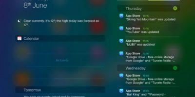 La vista horizontal para los usuarios del iPad en la que podrán revisar correo y otras app desde cualquier pantalla Foto:Apple
