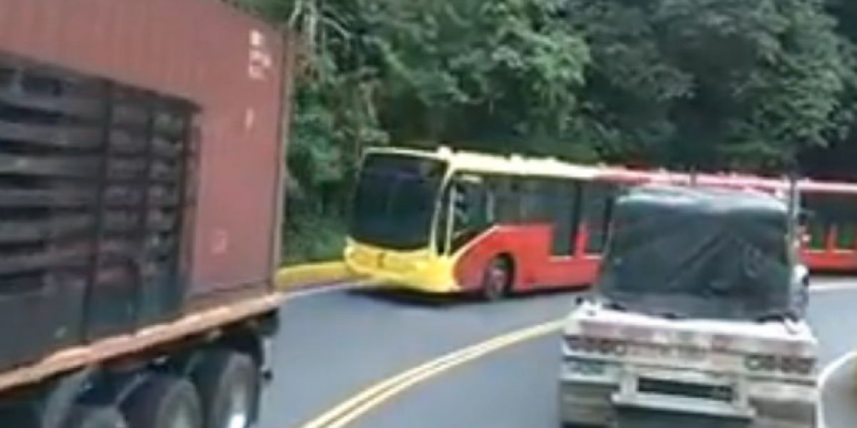 VIDEO: ¿Qué hacía un TransMilenio en la Línea?