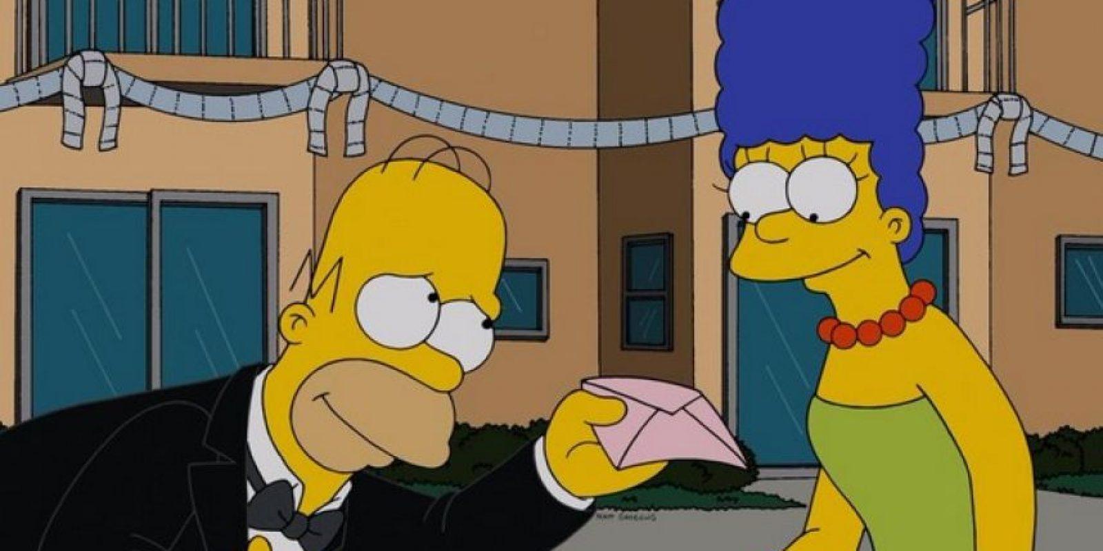 """La cuenta oficial de """"Los Simpson"""" niega el divorcio de """"Homero"""" y """"Marge"""". Foto:Twitter/TheSimpsons"""