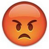 7) Un rostro enojado y lleno de cólera. Foto:emojipedia.org