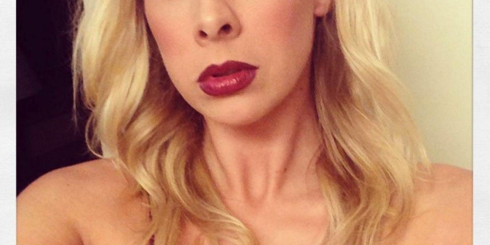 """Gianna Michaels, actriz porno y vocera de la app """"Chatstar"""" (programa que contacta a la las """"porn star"""" con sus fans) dice que estas medidas ayudan a la promoción profesional de las chicas. Foto:twitter.com/therealgianna?lang=en"""