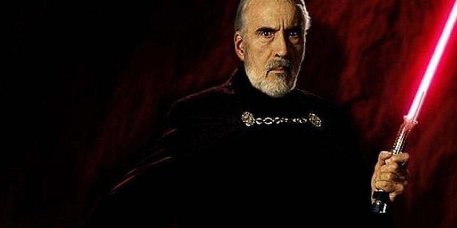 """Interpretó a """"Conde Dooku"""" en """"El ataque de los clones"""" y """"La venganza de los Sith"""". Foto:Vía imdb.com"""