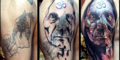 3. Un rostro sobre dibujo de la muerte Foto:TimPangburn