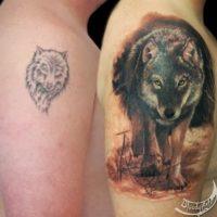 1. Un simple dibujo convertido en un tatuaje realista Foto:Bloodyart