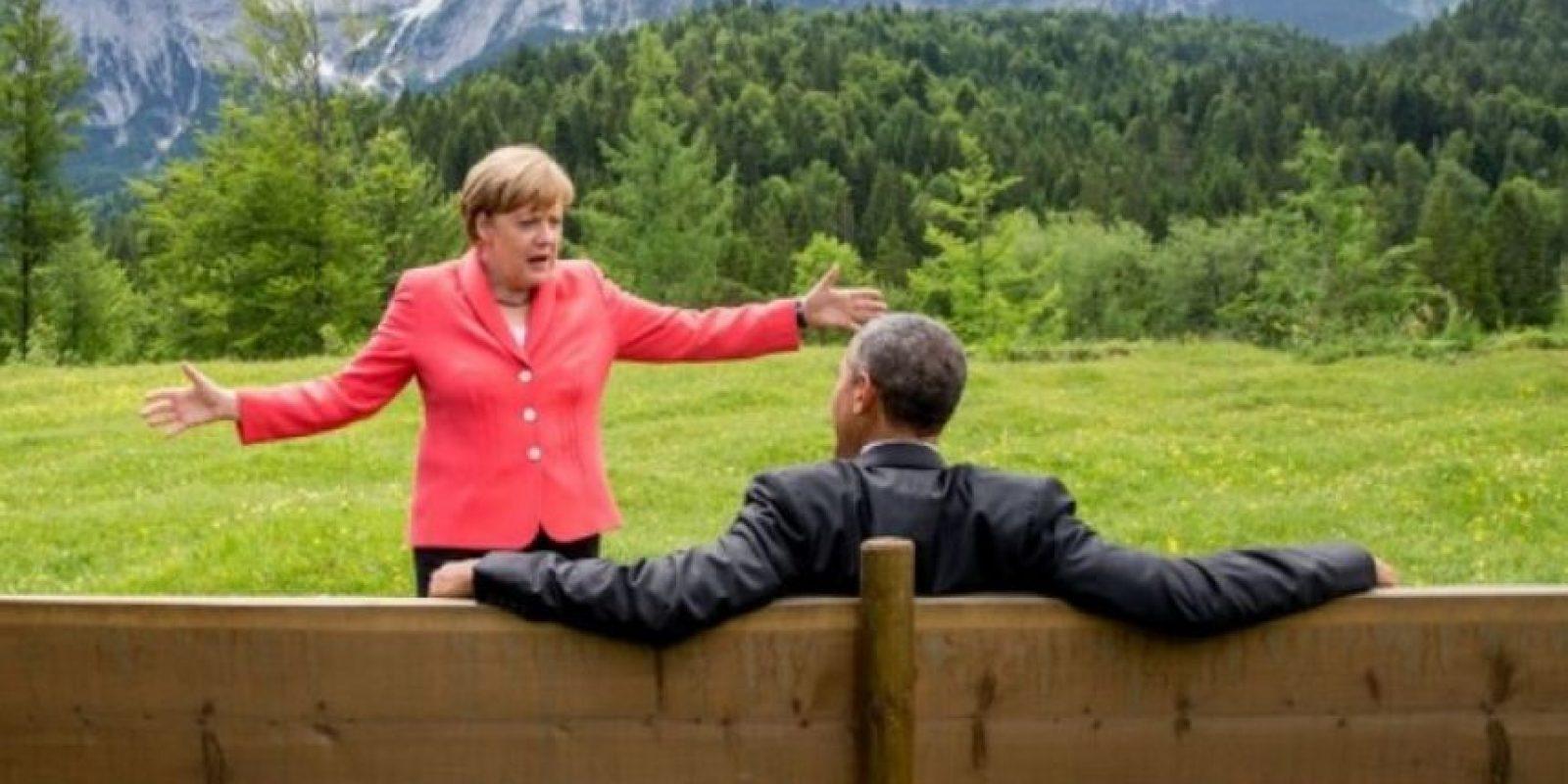1. Esta fotografía de Angela Merkel con Barack Obama Foto:AP