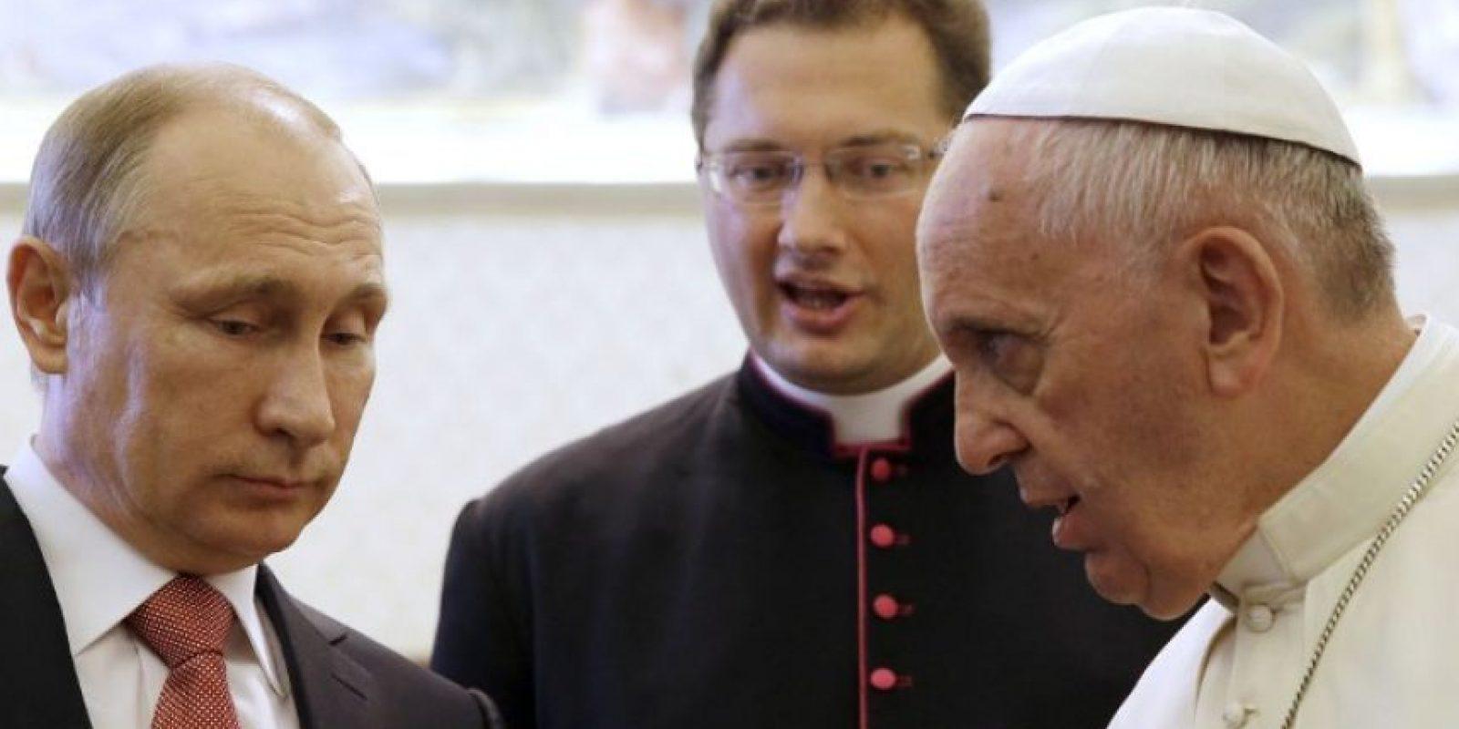 En los últimos días, el Papa Francisco también se reunió con Vladimir Putin, Presidente de Rusia Foto:AFP