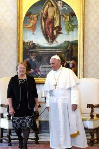 Y Michelle Bachelet, presidenta de Chile Foto:AFP