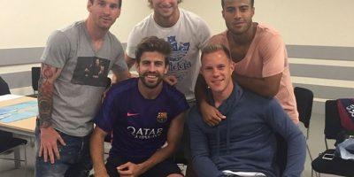 Messi, Piqué, Rakitić, Ter Stegen. Foto:instagram.com/ivanrakitic