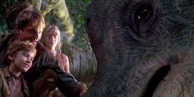 Es uno de los primeros dinosaurios que los protagonistas conocen en el parque. Foto:vía YouTube