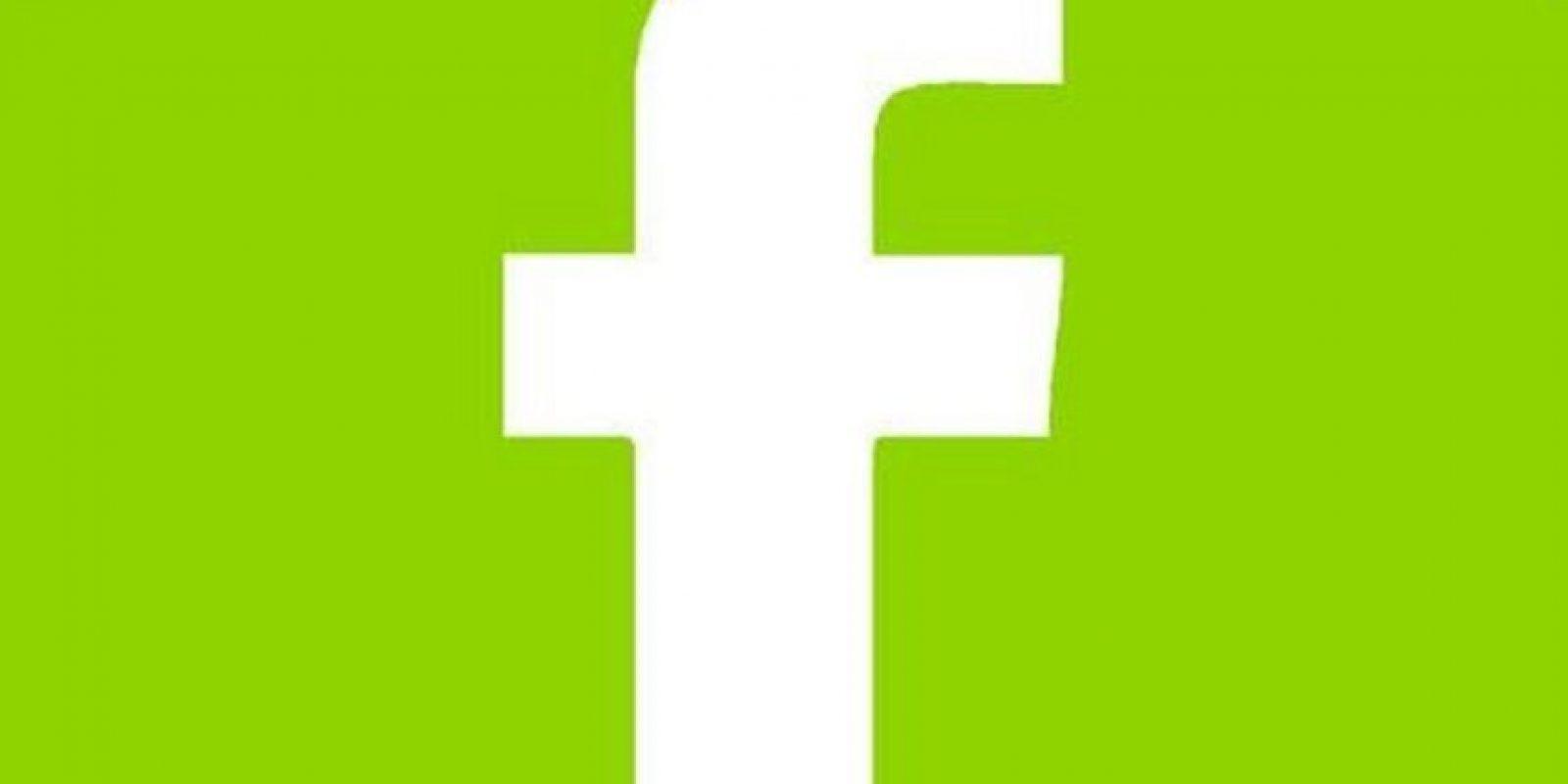 Facebook verde, la nueva estafa en la red social. Foto:Twitter