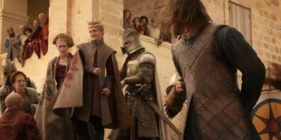 """Lo hace frente a su hija, """"Sansa Stark"""". Foto:vía HBO"""