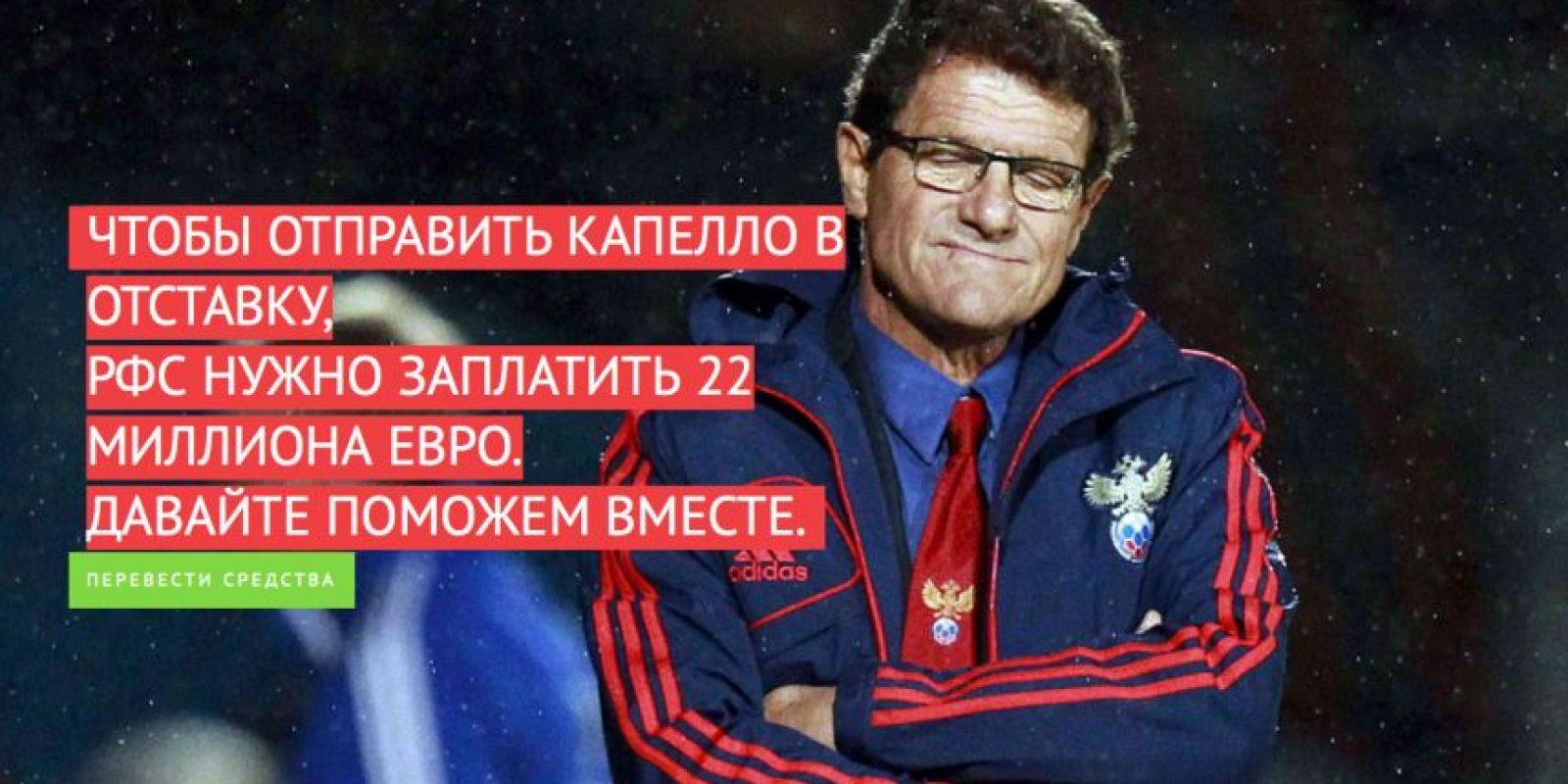 En Rusia ya no quieren a Fabio Capello. Foto:fabiogohome.betfoot.ru/