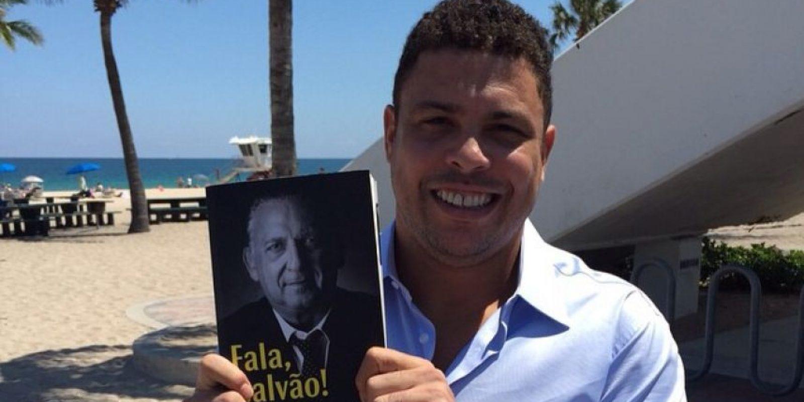 """Por su gran olfato goleador fue apodado """"El Fenómeno"""". Foto:Vía instagram.com/ronaldolima"""