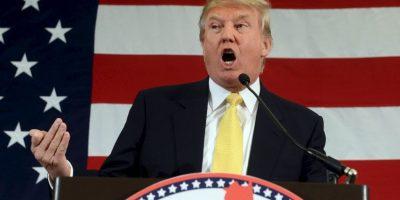 """""""Así que, señoras y señores, estoy oficialmente corriendo a la presidencia de los Estados Unidos, y nos vamos a hacer a nuestro país grande de nuevo"""", aseguró. Foto:Getty Images"""