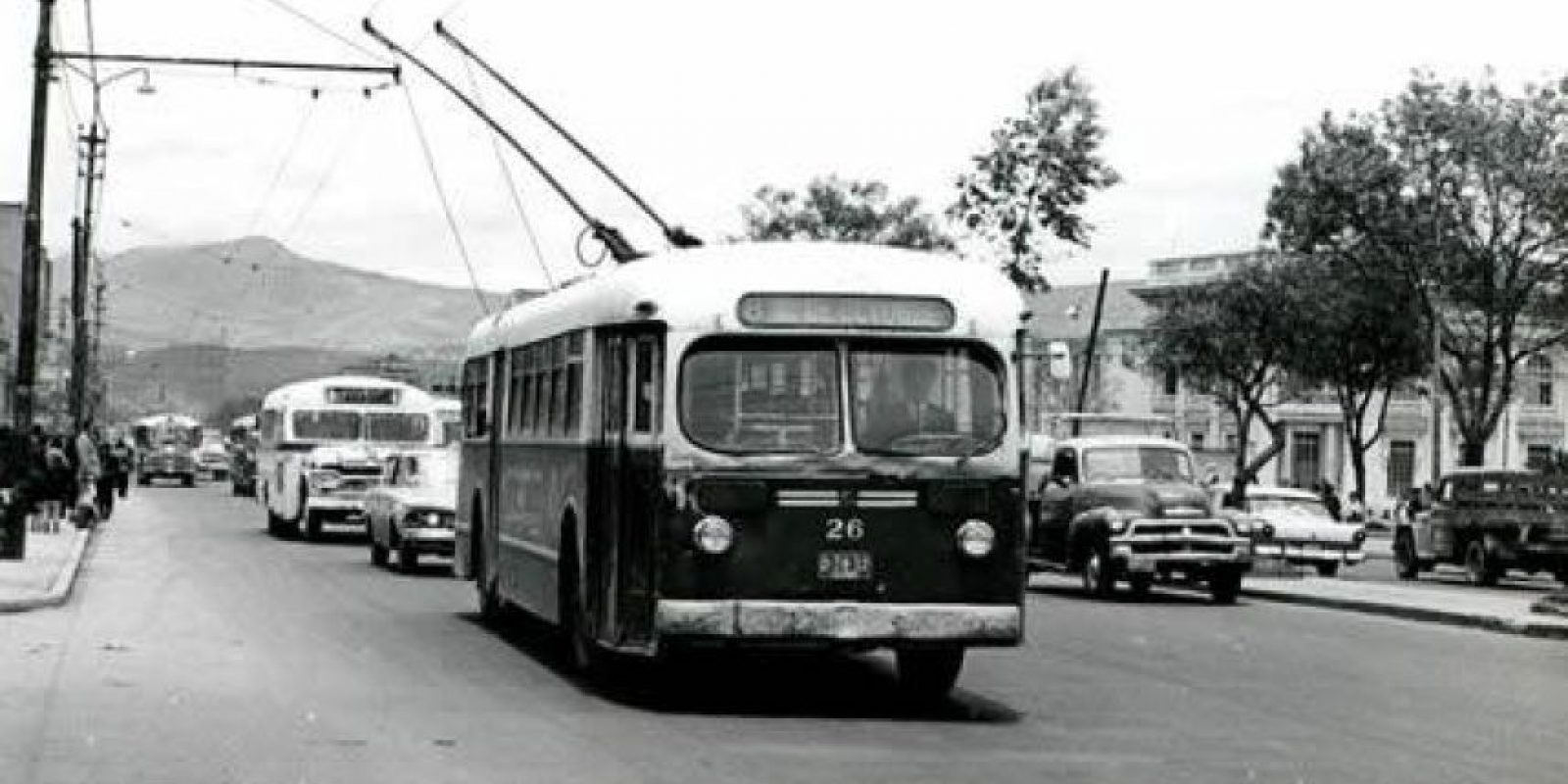 En reemplazo de los tranvias llegaron los Trolebuses. Foto:Facebook / Fotos Antiguas de Bogotá