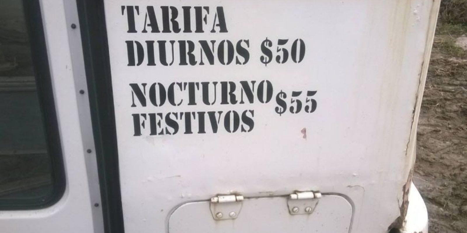 Las tarifas por viajar en los trolebuses. Foto:Facebook / Fotos Antiguas de Bogotá