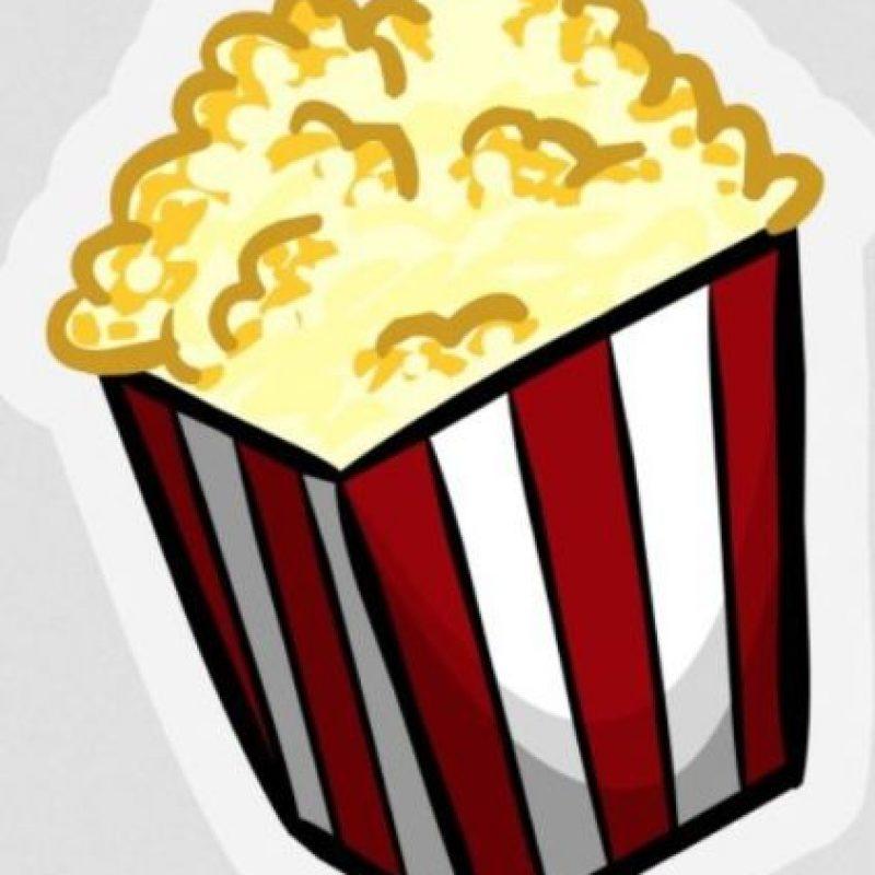 Palomitas de maíz – Una típica botana para ver películas. Foto:emojipedia.org
