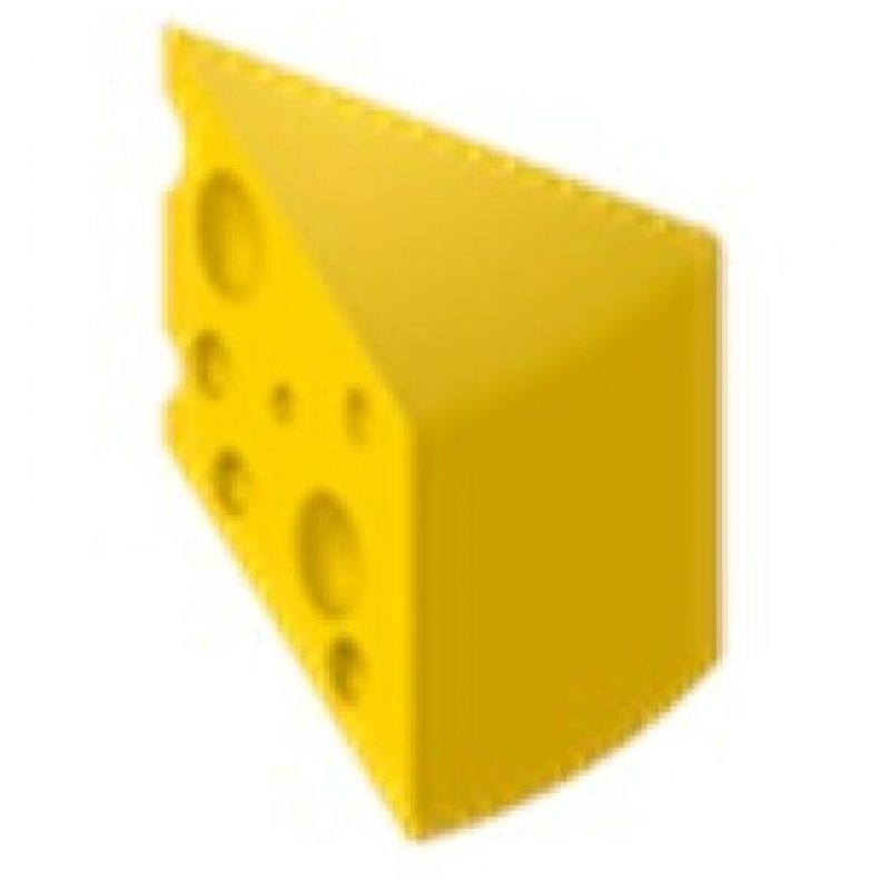 Pedazo de queso. Foto:emojipedia.org