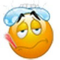 Rostro enfermo y con termómetro. Foto:emojipedia.org