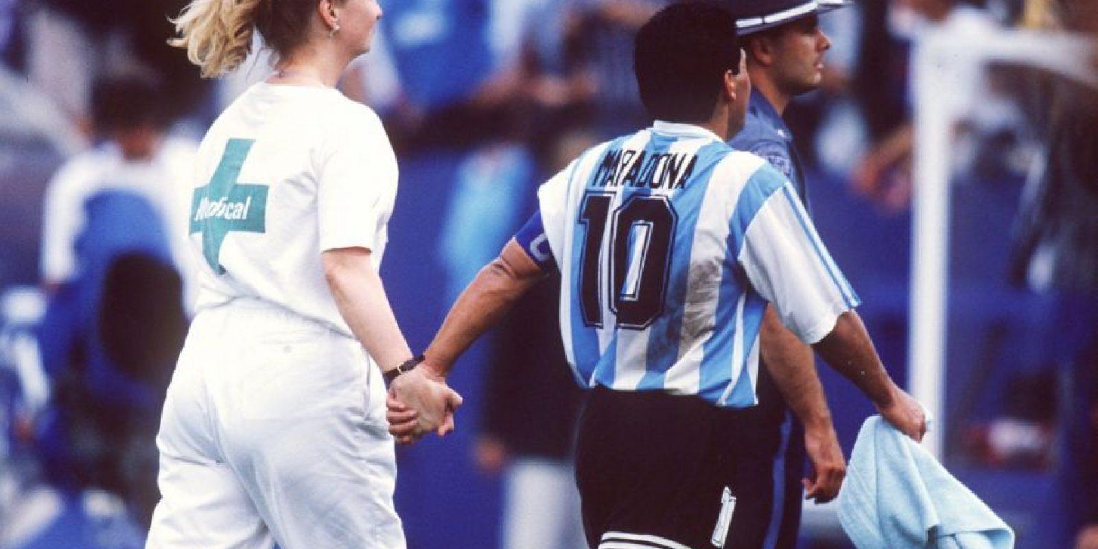 Dio positivo en los exámenes de dopaje del Mundial de 1994. Foto:Getty Images