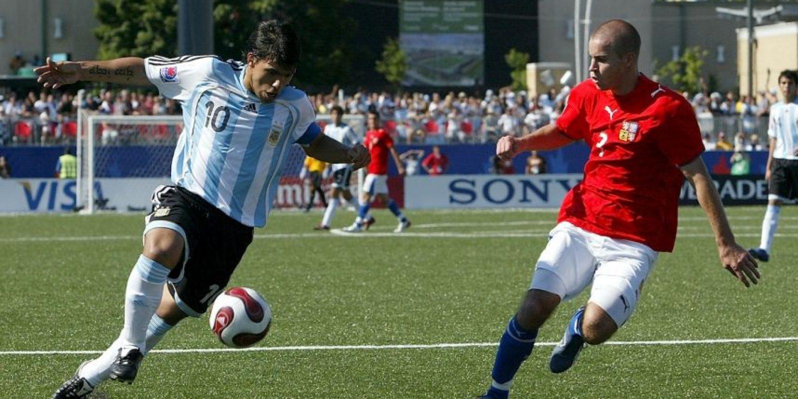 La selección de Argentina Sub-20 ganó el Mundial de 2007, que se celebró en Canadá. Foto:Getty Images