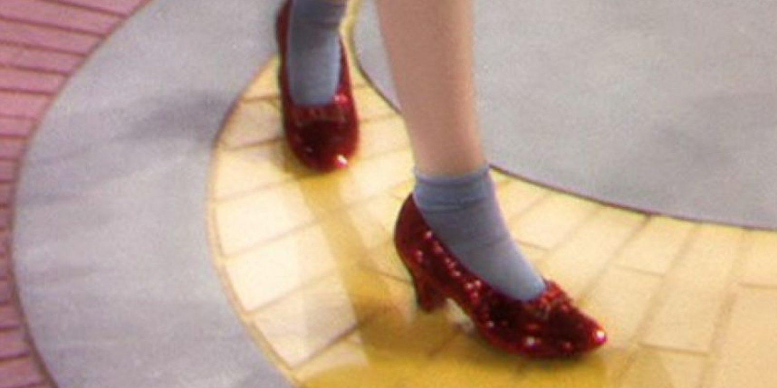 """También fueron muy icónicos los de Judy Garland en """"El Mago de Oz"""". Foto:vía Getty Images"""