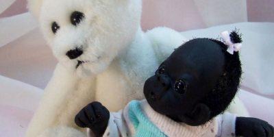"""Decían que este """"bebé"""" era el """"más oscuro del mundo"""". Foto:vía eBay"""
