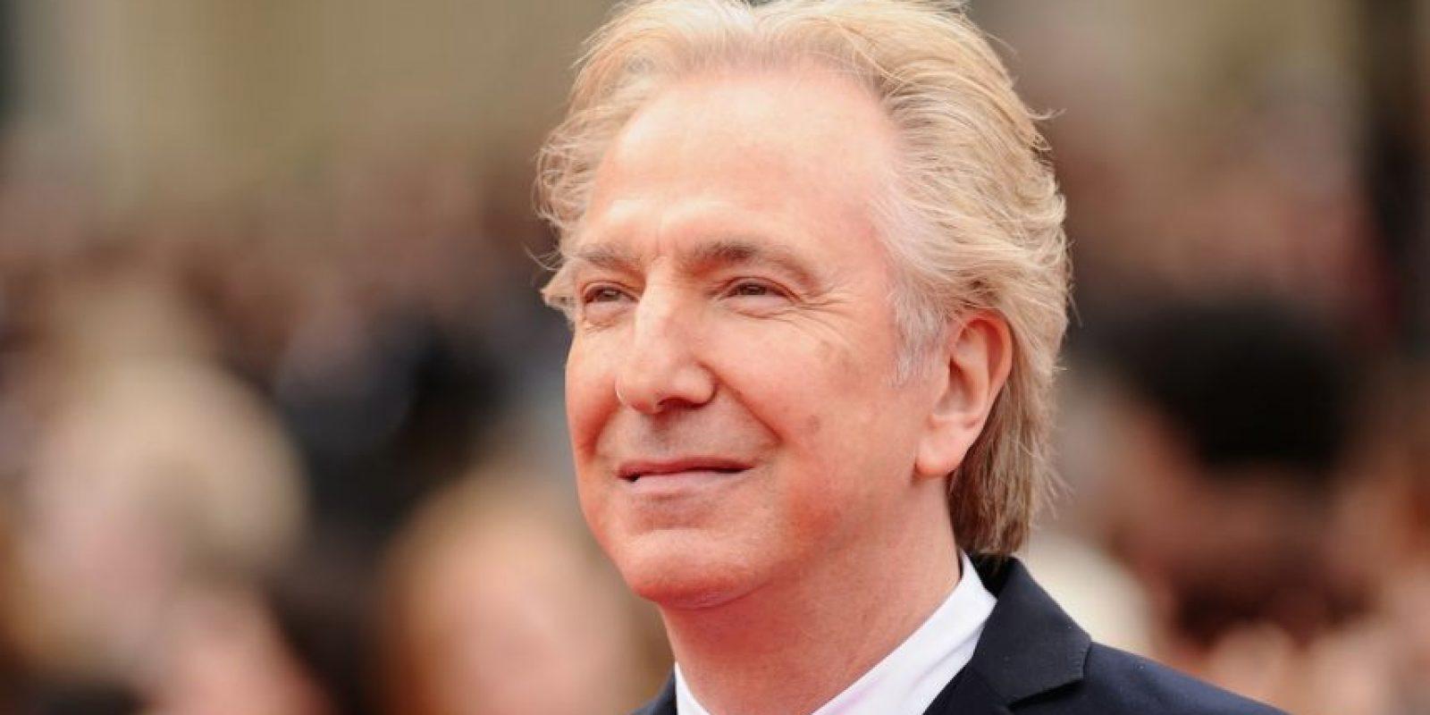 """Pero uno de sus papeles más recordados es el del """"Profesor Severus Snape"""" en la saga """"Harry Potter"""". Foto:Getty Images"""