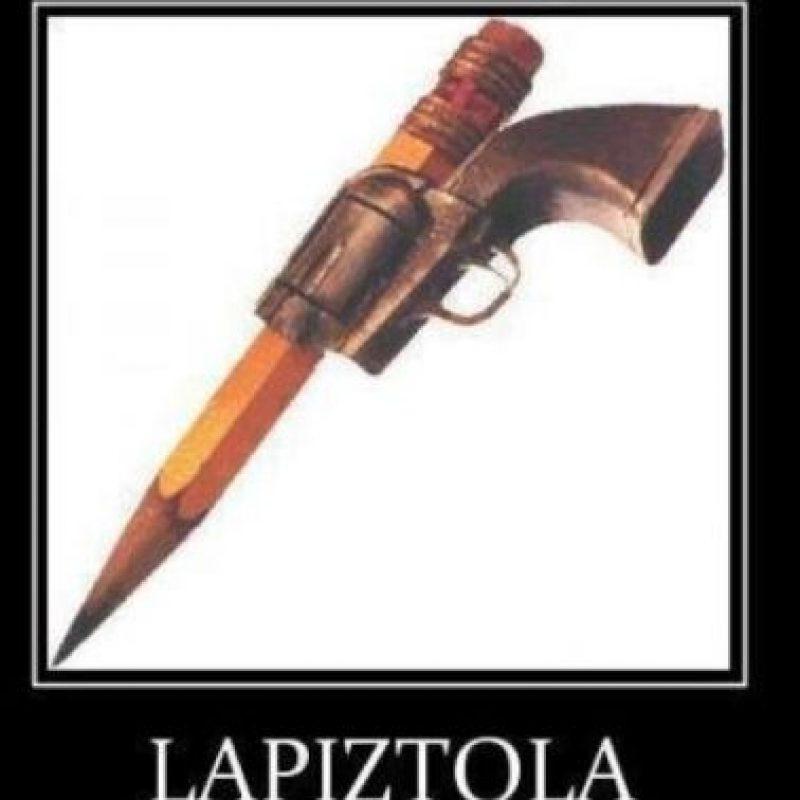 ¿Qué les parece Lápiz tola? Foto:Tumblr.com/tagged/armas/caseras