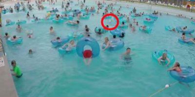 Estaba donde señala el círculo rojo. Foto:vía Youtube