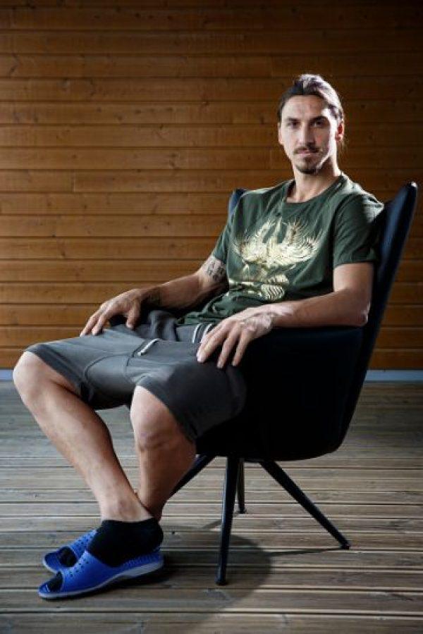 """La línea llevará el nombre de """"Zlatan Ibrahimovic Parfums"""" y su logo está representado con una pluma y un pescado, dos de sus tatuajes. Foto:Getty Images"""