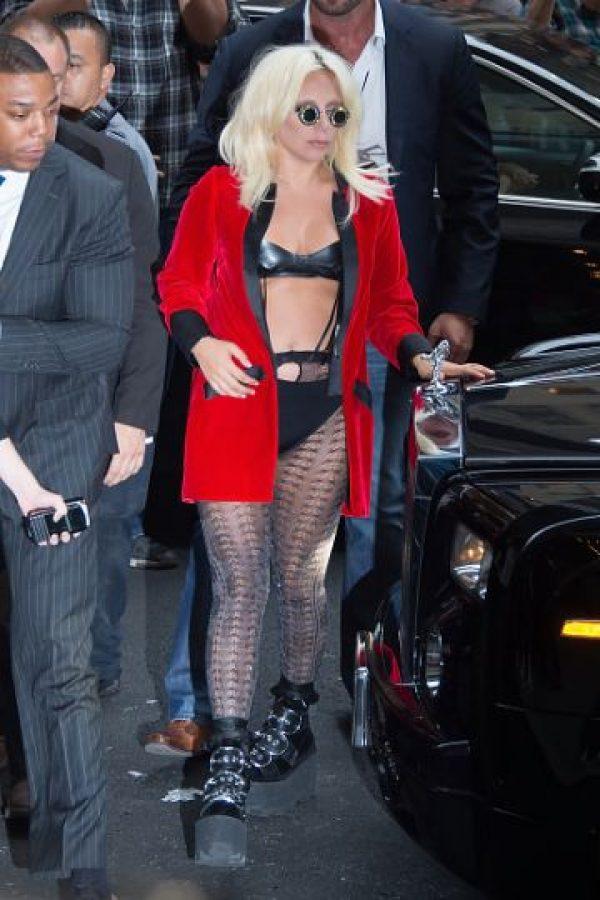 Así se vistió Lady Gaga hace poco. Foto:vía Getty Images