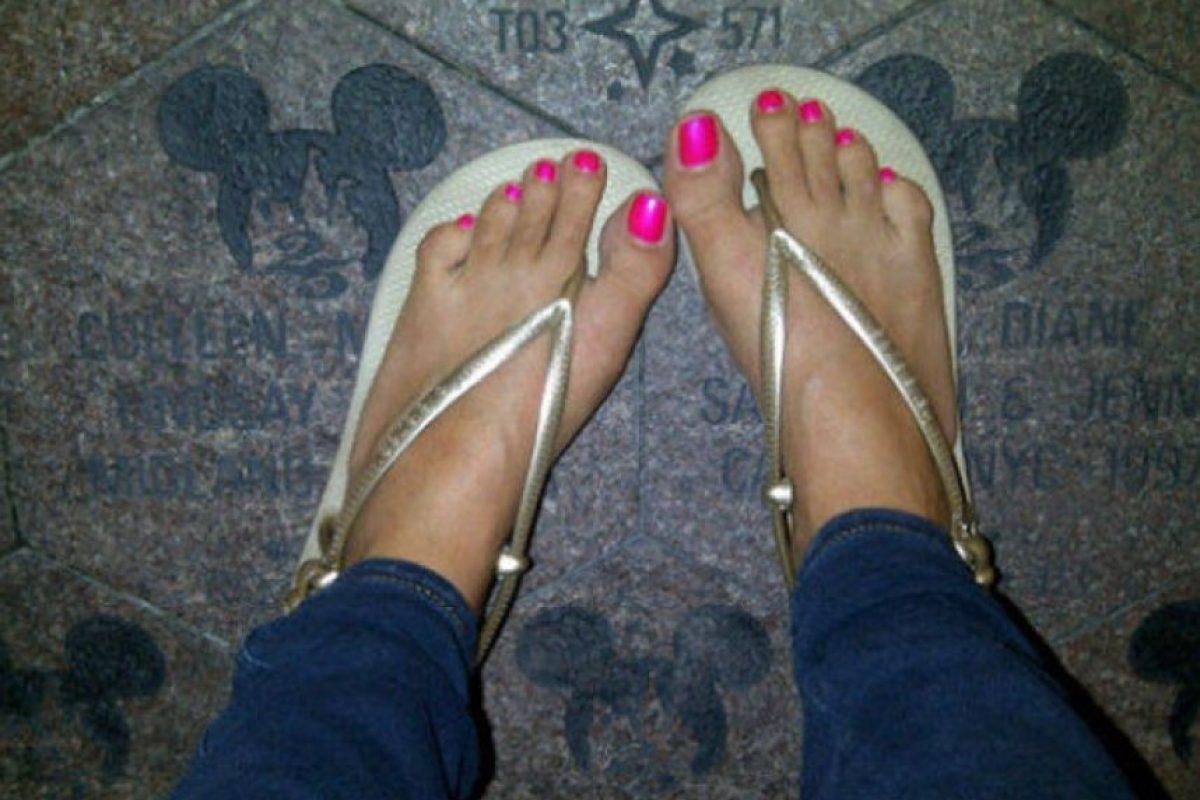 … Pero los pies de la actriz son totalmente lo contrario. Foto:Instagram