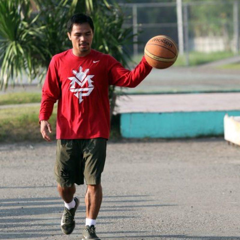 """En el país de Manny Pacquiao aman el baloncesto, donde es el deporte nacional. Tanto así, que hasta el propio """"Pacman"""" lo practica. Foto:Getty Images"""