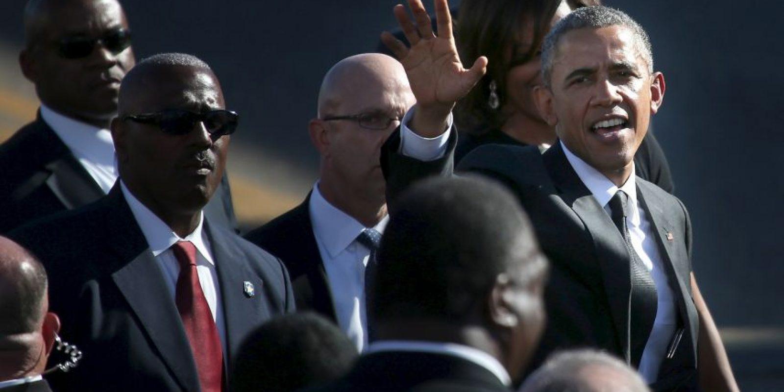 """El presidente de Estados Unidos confesó que llevó a sus hijas, Malia y Sasha, a Selma para """"recordarles sus obligaciones"""". Foto:Getty Images"""