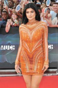 Y aquí está Kylie con un vestido similar Foto:Getty Images
