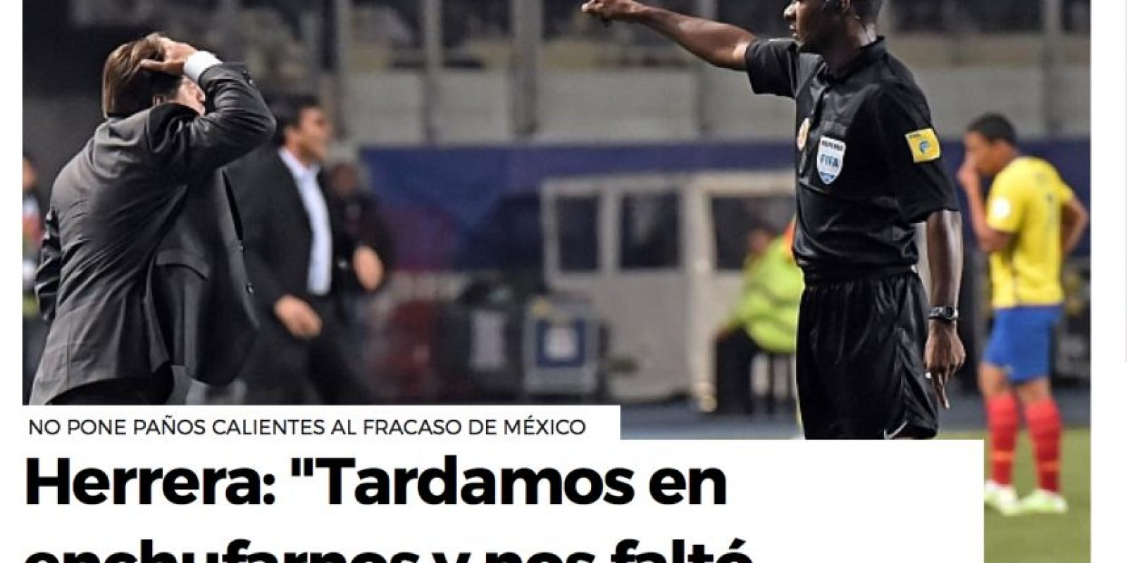 """As de España titula con una frase del """"Piojo"""" Foto:As"""
