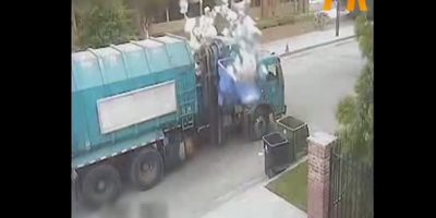 Tirar la basura nunca fue tan intenso Foto:Youtube/Master Haku