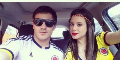 Sergio Arévalo y su novia panameña Gaby Garrido.