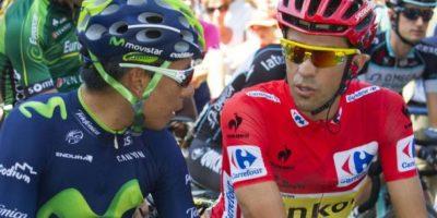 Nairo Quintana (azul) es uno de los mayores rivales de Alberto Contador (rojo) para el Tour de Francia. Foto:Archivo Publimetro