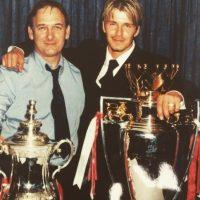 El exfutbolista inglés David Beckham junto a su padre Foto:Vía instagram.com/davidbeckham