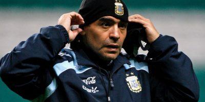 En 2008 regresó a la Selección de Argentina… pero como entrenador. Foto:Getty Images