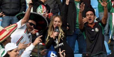 Apareció en un partido de la selección de México Foto:AFP