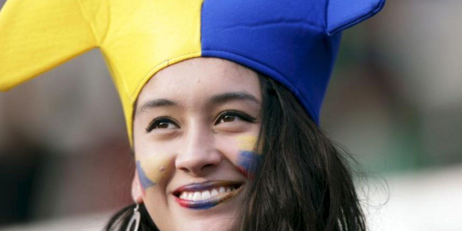 Con Colombia hasta en los labios Foto:AFP